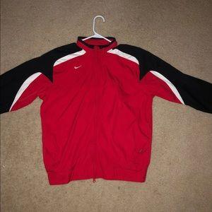 Red Nike Vintage Windbreaker